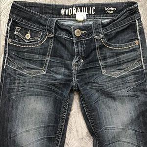 EUC Hydraulic Metro Flare jeans Size 11/12